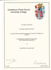 Post Compulsory PGCE Further Education Qualification & Training