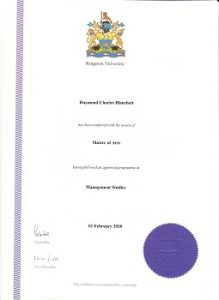 MBA & Masters degree in management