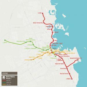 Qatar Metro Rail Map